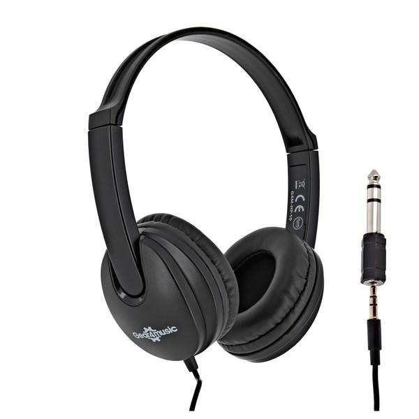 Junior Headphones, Black, by Gear4music