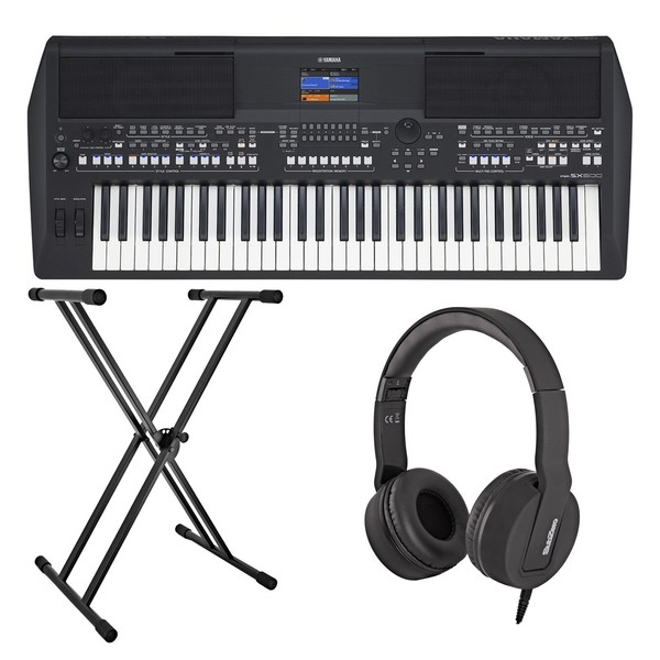 Yamaha PSR SX600 Digital Arranger Keyboard Bundle