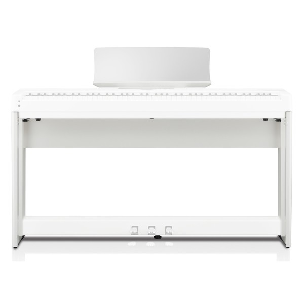Kawai HM5 Wooden Stand for ES520 and ES920 Digital Piano, White - Front With Piano (Piano and Pedal Unit Not Included)