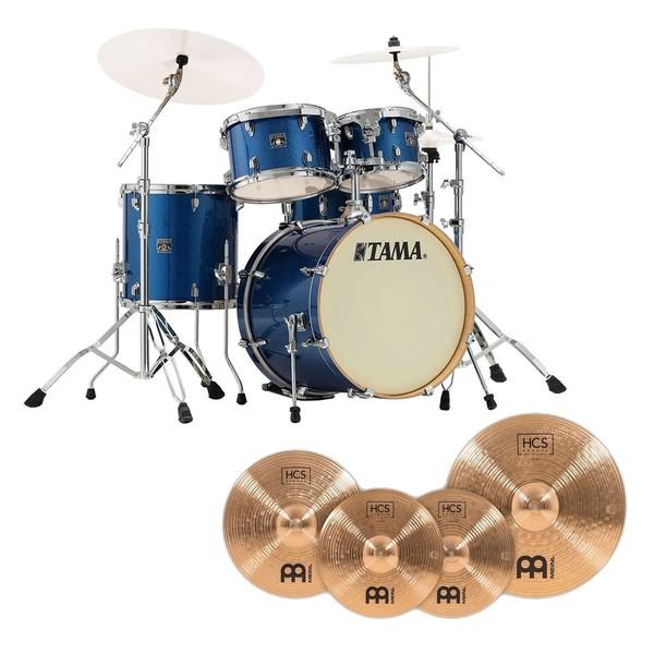 Tama Superstar Classic 20'' 5pc Drum Kit w/ Cymbals, Indigo Sparkle