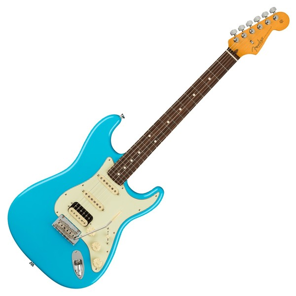 Fender American Pro II Stratocaster HSS RW, Miami Blue - Front View