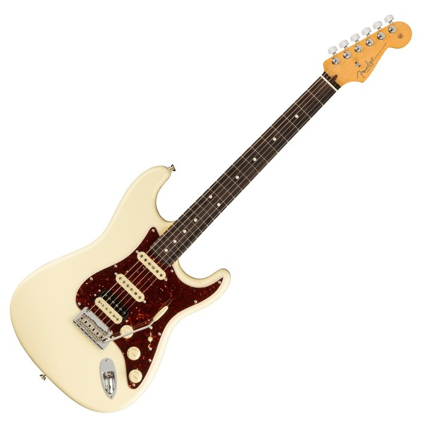 Fender American Pro II Stratocaster HSS RW, Olympic White - Front View