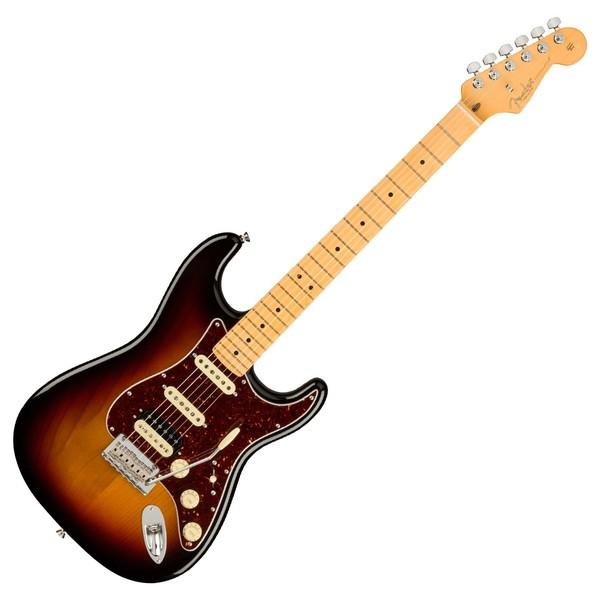 Fender American Pro II Stratocaster HSS MN, 3-Tone Sunburst  - Front View