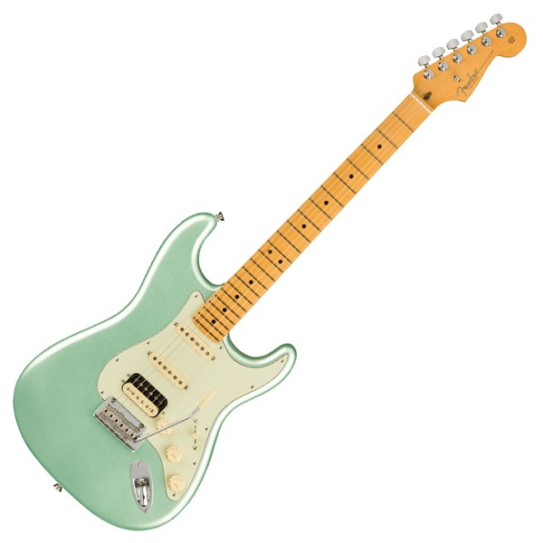 Fender American Pro II Stratocaster HSS MN, Mystic Surf Green - Front View