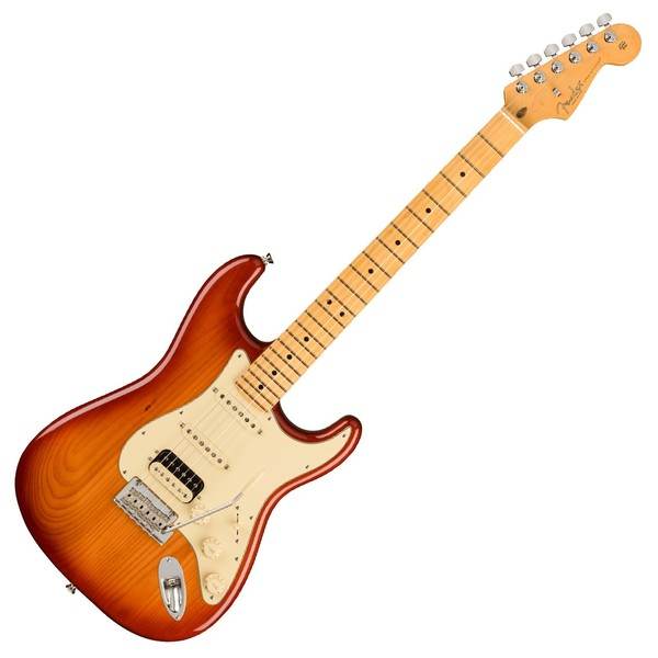 Fender American Pro II Stratocaster HSS MN, Sienna Sunburst - Front View