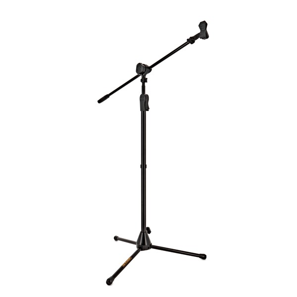 Hercules MS532B Ez Clutch Mic Stand with 2 in 1 Boom and Mic Clip
