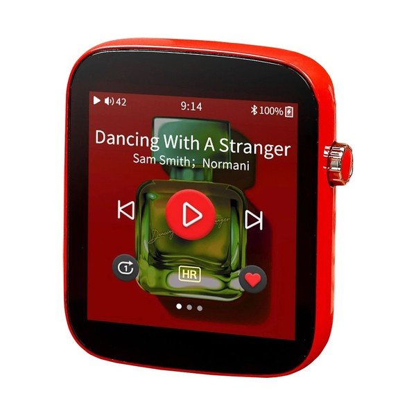 Shanling Q1 Portable Digital Audio Player, Red - Angled