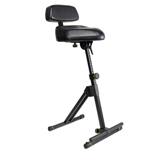 Gravity FMSEAT1BR Height adjustable stool with foot and backrest