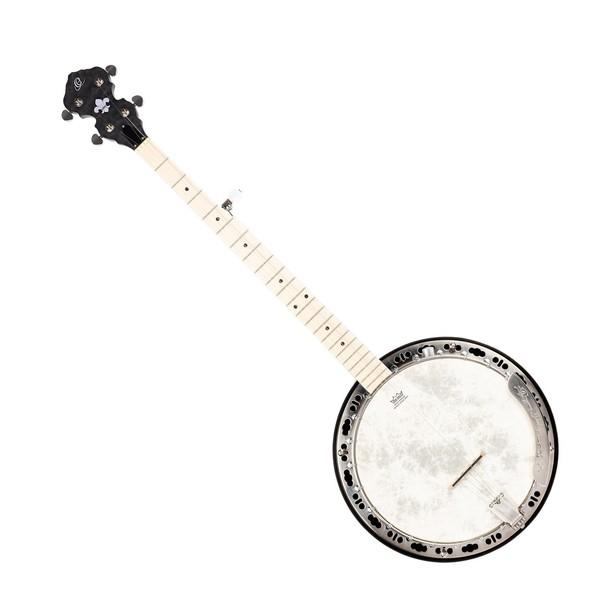 Ortega OBJE400TCO-L 5-String Banjo Left Handed, Natural - Front Angled Left