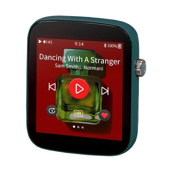 Shanling Q1 Portable Digital Audio Player, Dark Green - Angled
