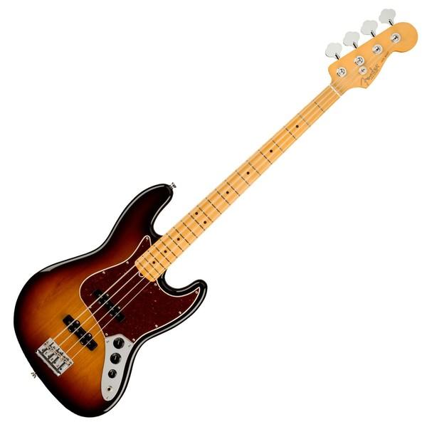 Fender American Pro II Jazz Bass MN, 3-Tone Sunburst - Front View
