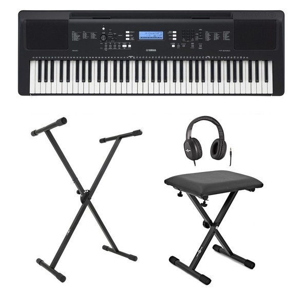 Yamaha PSR EW310 Portable Keyboard with Stand, Bench and Headphones