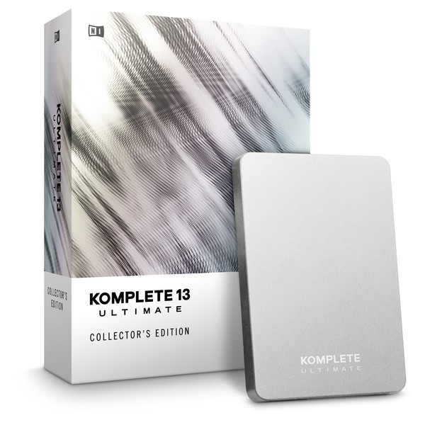 Native Instruments Komplete 13 Ultimate, Collectors Edition - Angled with HD