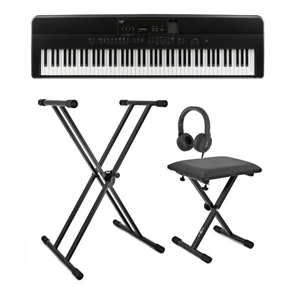 Kawai ES920 Digital Piano Pack, Black - Full Bundle