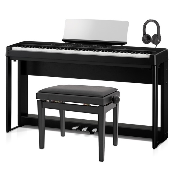 Kawai ES920 Digital Stage Piano Deluxe Package, Black - Angled