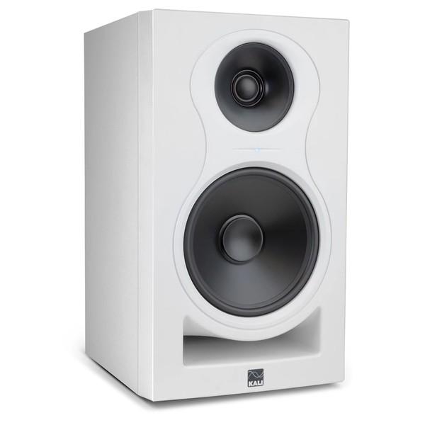 Kali IN-8W, 8 Inch 3-Way Powered Studio Monitor, White - Angled