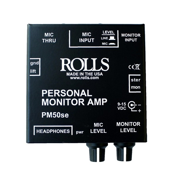 Rolls PM50se Personal Monitor Amp - Top View