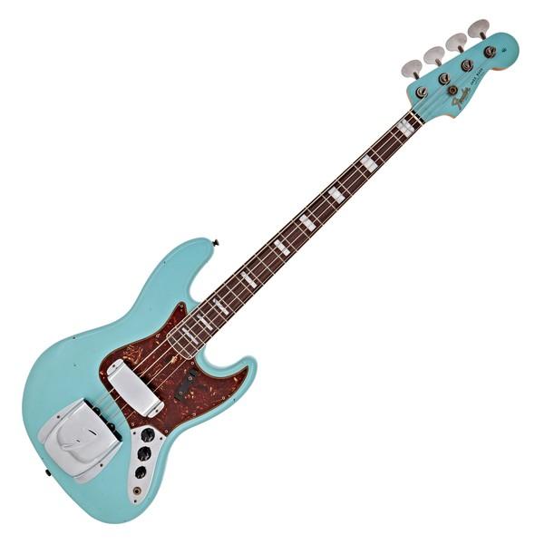 Fender Custom Shop 66 Journeyman Relic Jazz Bass, Aged Daphne Blue