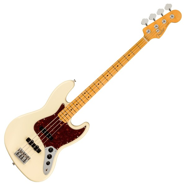 Fender American Pro II Jazz Bass MN, Olympic White - Front View
