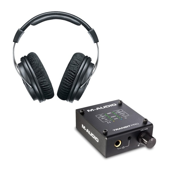 Shure SRH1540 Closed Back Headphones with M-Audio Transit Pro DAC