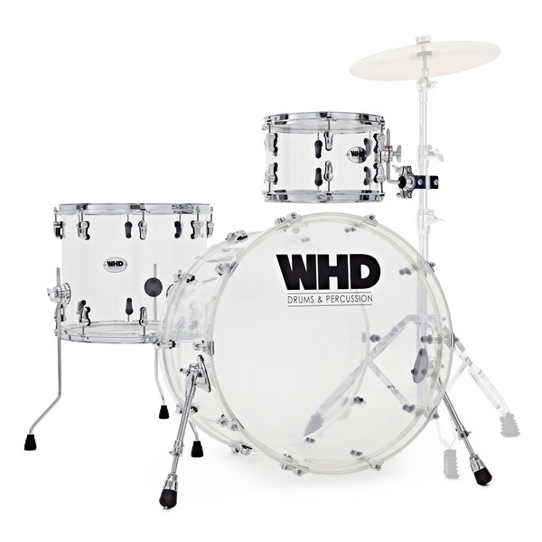 WHD Elite Acrylic Drum Kit, Clear