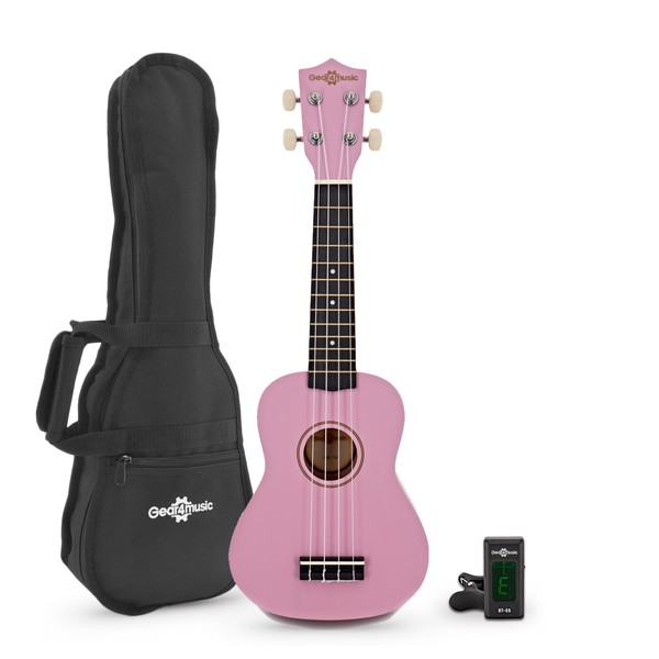 Ukulele Pack by Gear4music, Pink