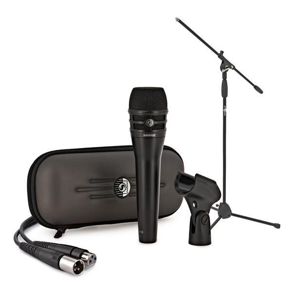 Shure KSM8 Dual Diaphragm Dynamic Microphone, Black Bundle - Full Package