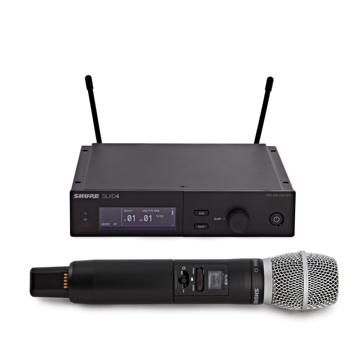 Click to view product details and reviews for Shure Slxd24uk Sm86 K59 Handheld Wireless Microphone System.