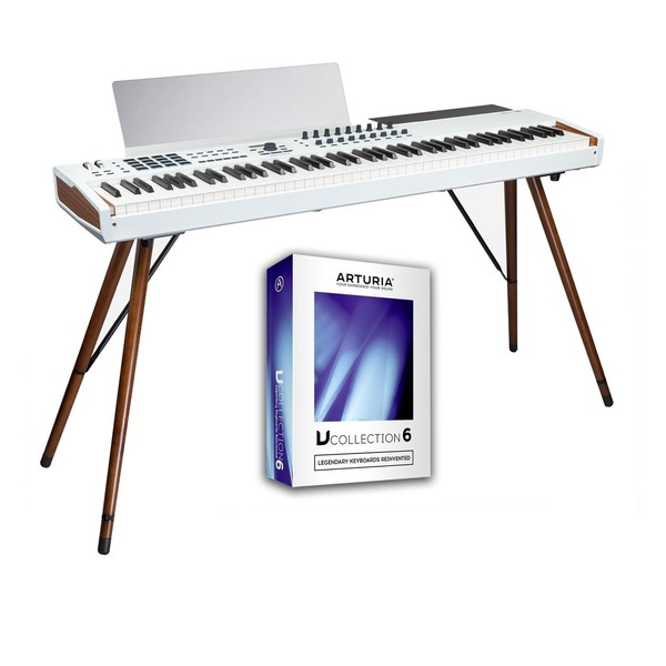 Arturia Keylab 88 MKII Bundle with Wooden Legs and V-Collection 6 - Main