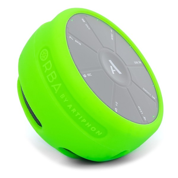 Artiphon ORBA Silicone Sleeve, Neon Green - Angled (ORBA Not Included)