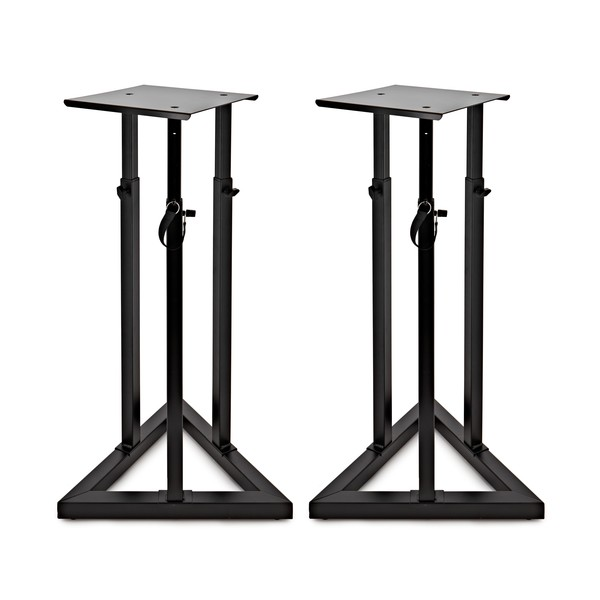 Adjustable Height Studio Monitor Speaker Stands Pair At Gear4music