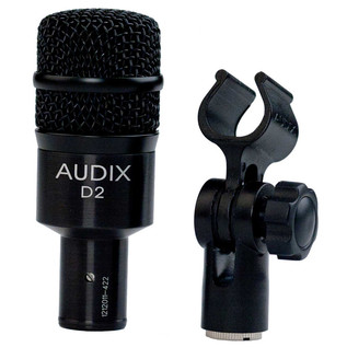 Audix D2 High Gain Percussion Dynamic Microphone with Clip