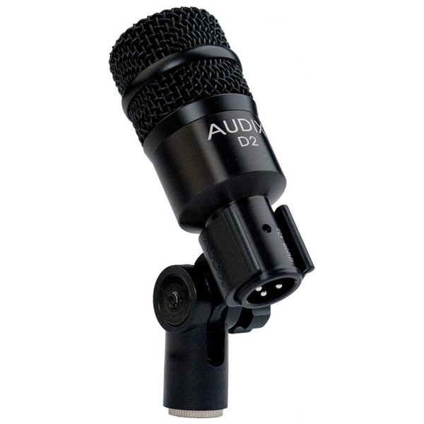 Audix D2 High Gain Percussion Dynamic Microphone in Clip