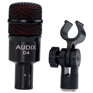 Audix D4 Low-Frequency Dynamic Instrument Microphone with Clip