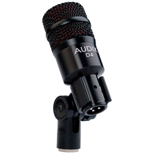 Audix D4 Low-Frequency Dynamic Instrument Microphone in Clip