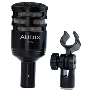 Audix D6 Kick Drum Dynamic Microphone with Clip