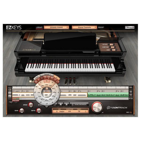 Toontrack EZkeys Virtual Grand Piano Software