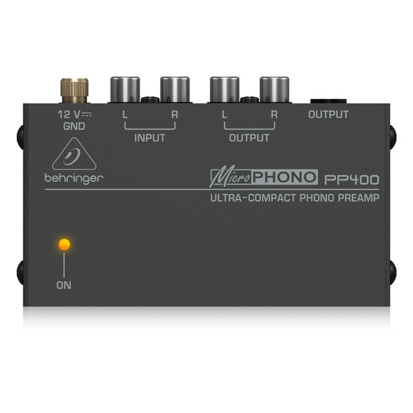 Behringer PP400 Microphono Phono Preamp, Top View