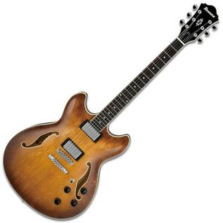 Ibanez AS73 Semi-Acoustic Guitar, Tobacco Brown