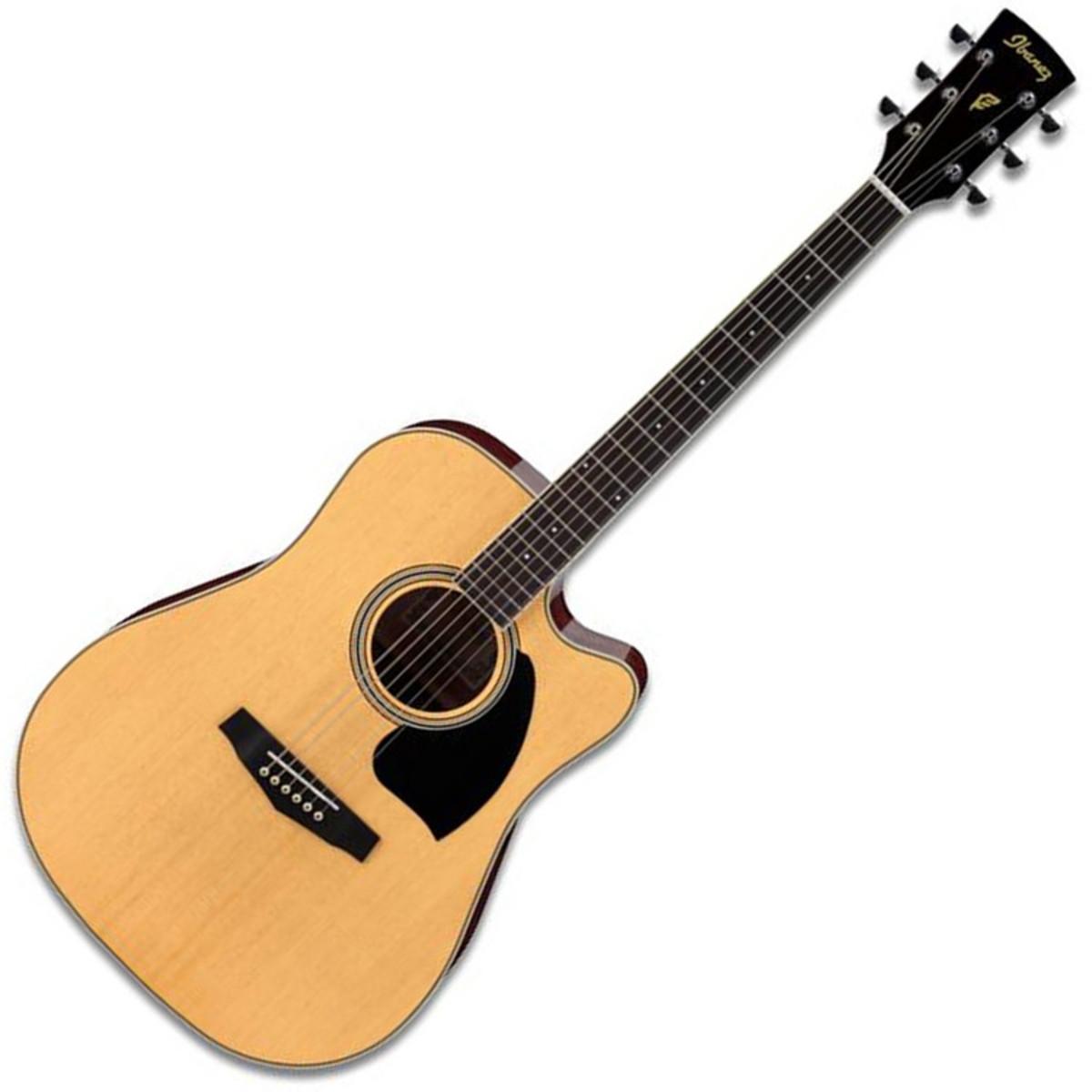 DISC AIbanez PF15C Acoustic Guitar Natural A Gear4Music