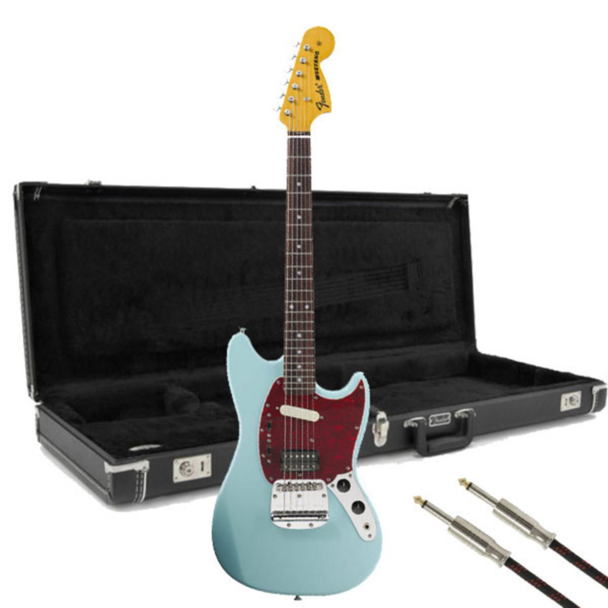 fender kurt cobain mustang signature guitar sonic blue free gift at. Black Bedroom Furniture Sets. Home Design Ideas