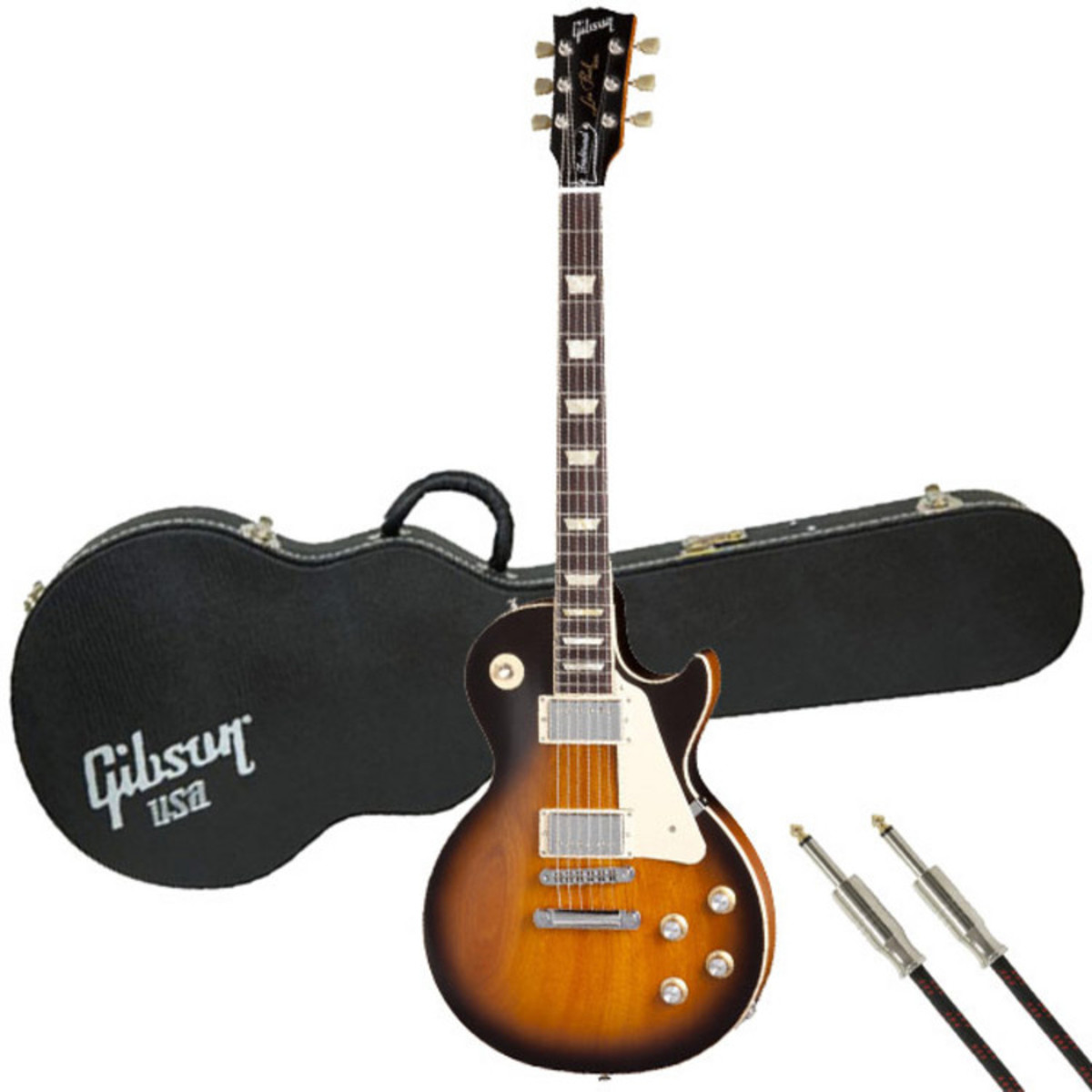 disc gibson les paul trad guitar satin vintage sunburst w. Black Bedroom Furniture Sets. Home Design Ideas