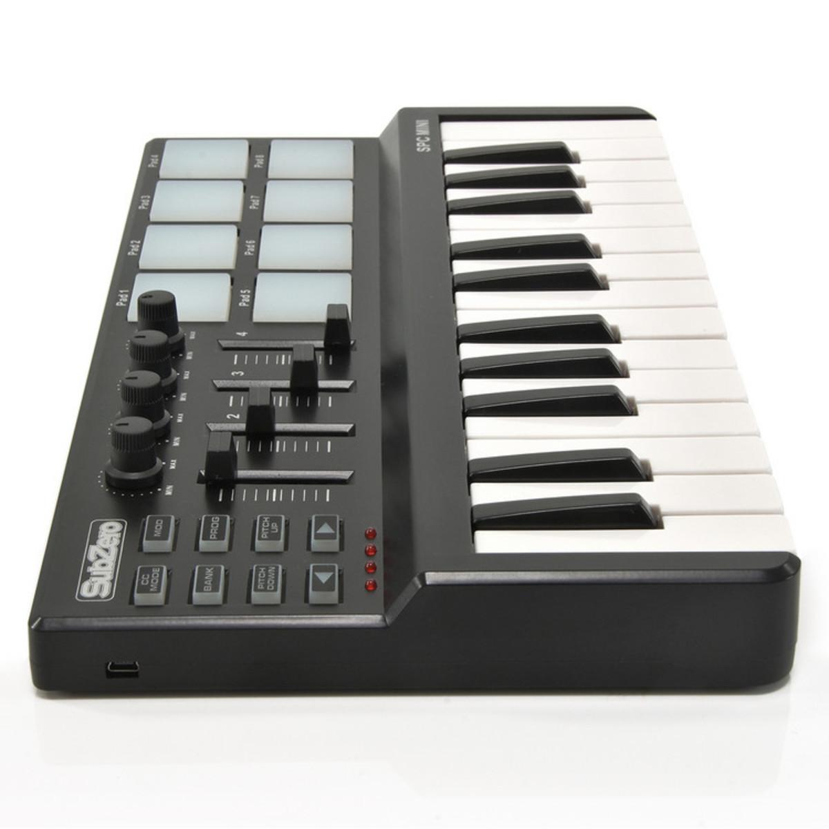 SubZero SPC MINI Key and Pad MIDI Controller at Gear4music