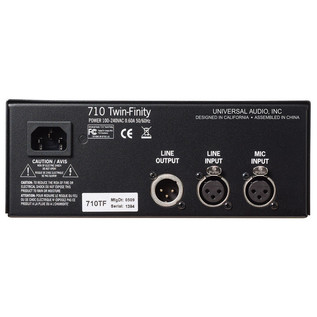 Universal Audio 710 Twin-Finity™ Tone-Blending Mic Preamp & DI Box (Back)