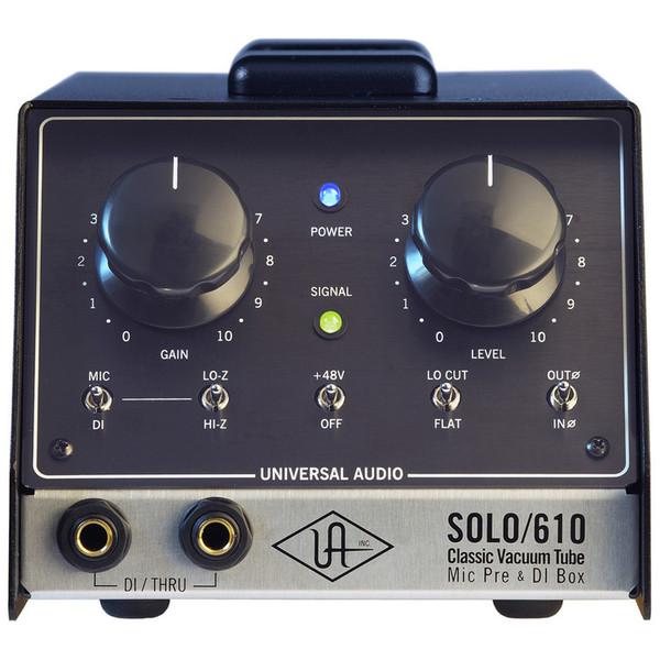 Universal Audio SOLO/610 Classic Tube Preamplifier & DI Box (Front)