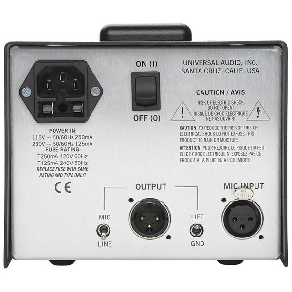 Universal Audio SOLO/610 Classic Tube Preamplifier & DI Box (Back)