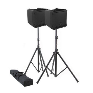 Mackie DLM12 Active PA Speakers and Stands