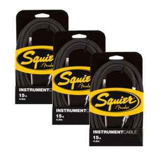 Squier by Fender Instrument Cable, 4.5m, 3 Pack