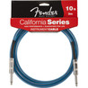 Fender California Instrumentkabel, Lake Placid Blå, 3m.