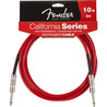 Fender California Instrumentkabel, Candy Apple Rød, 3m.
